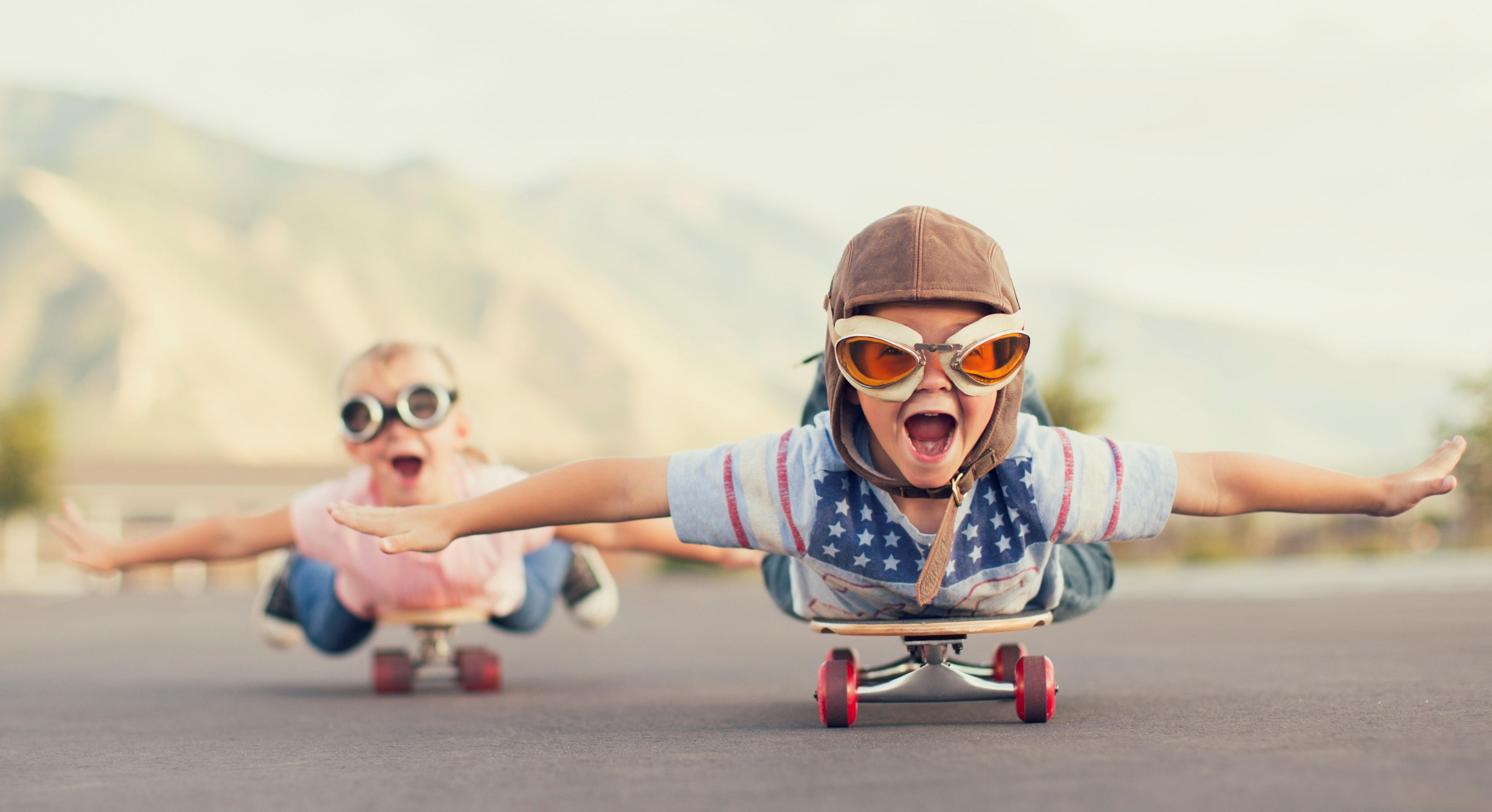 future kids on skateboard